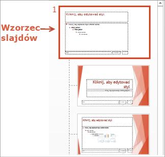 Wybieranie wzorca slajdów