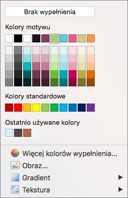 Opcje koloru