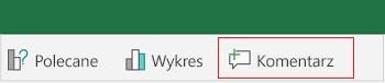 Dodawanie komentarza w programie Excel dla systemu Android