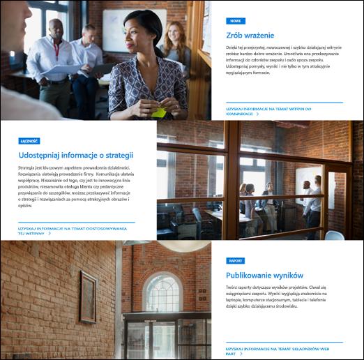 Hero Web Part programu SharePoint