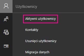 W Centrum administracyjnym wybierz pozycję Użytkownicy > Aktywni użytkownicy