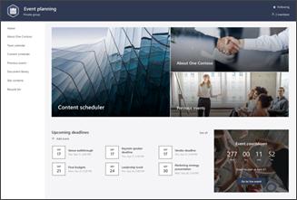 Obraz szablonu witryny zarządzania zdarzeniami