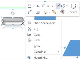 Menu wyświetlane po kliknięciu notesu prawym przyciskiem myszy, Malarz formatów