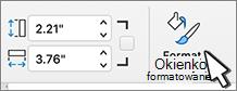 Przycisk okienko formatowanie zaznaczone