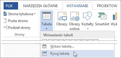 Rysowanie tabeli