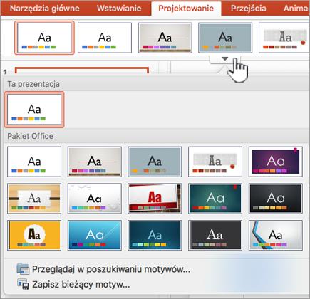 Motywy programu PowerPoint więcej motywów