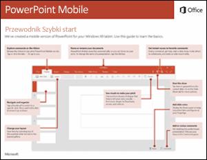Przewodnik Szybki start dla aplikacji PowerPoint Mobile