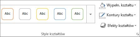 Przycisk Style na karcie Formatowanie