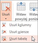 Usuwanie tabeli