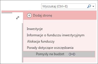 Przekształcanie strony w podstronę lub podwyższanie podstrony do poziomu strony