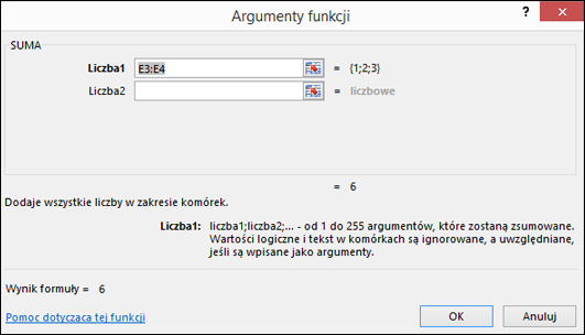 Kreator funkcji programu Excel