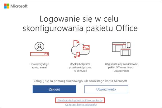 Link, który należy kliknąć w celu wprowadzenia klucza produktu w ramach Programu użytkowania w domu firmy Microsoft