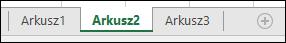 Obraz kart arkusza programu Excel