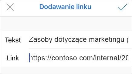 Obraz menu Dodaj link
