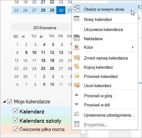 W menu podręcznym kliknij polecenie Otwórz w nowym oknie