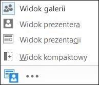 Zrzut ekranu: obszar wybierania widoku z wybranym widokiem galerii