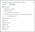 Ukryte pola i kolumny w programie Power View