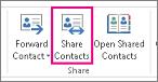 Przycisk Udostępnij kontakty