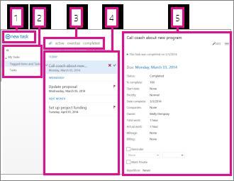 Zadania w aplikacji Outlook Web App