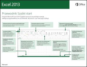 Przewodnik Szybki start dla programu Excel 2013