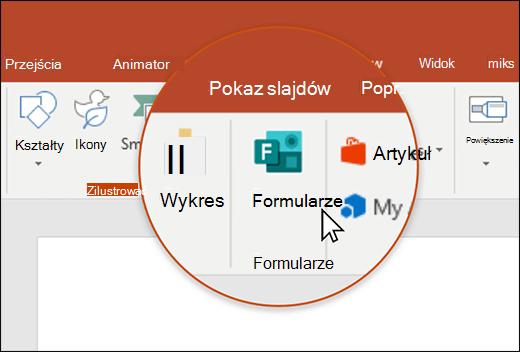 Ikona formularzy w programie PowerPoint