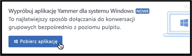 W produktu wiadomości dla systemu Windows