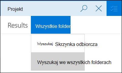 Ograniczanie zakresu wyszukiwania do bieżącego folderu lub tylko do wiadomości z załącznikami