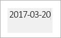 Pole date można edytować wskazuje szarym polu