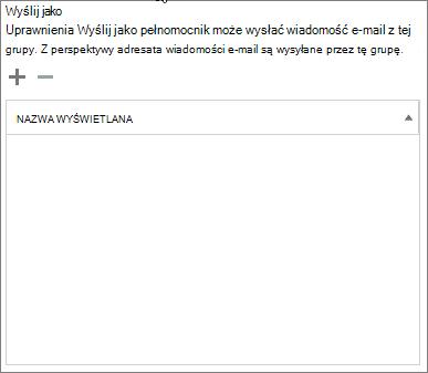 Zrzut ekranu: Wybierz znak plus, aby dodać użytkowników, których chcesz wysłać jako grupy usługi Office 365