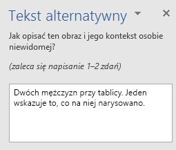 Okienko AltText