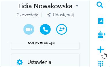 Zrzut ekranu przedstawiający przycisk Nowa rozmów