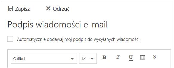 Komunikat Podpis e-mail w aplikacji Outlook w sieci Web