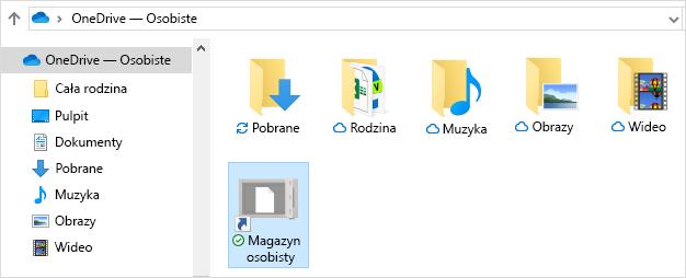 Osobisty magazyn usługi OneDrive — skrót