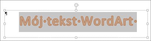 Wybrany obiekt WordArt