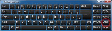 Klawiatura ekranowa w systemie Windows z klawiszem Scroll Lock