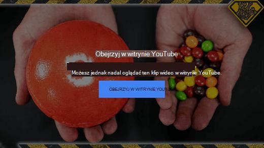 Ten komunikat o błędzie z witryny YouTube informuje, że osadzone klipy wideo w formacie Flash nie są już obsługiwane