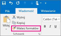 Przycisk Malarz formatów w nowej wiadomości w programie Outlook