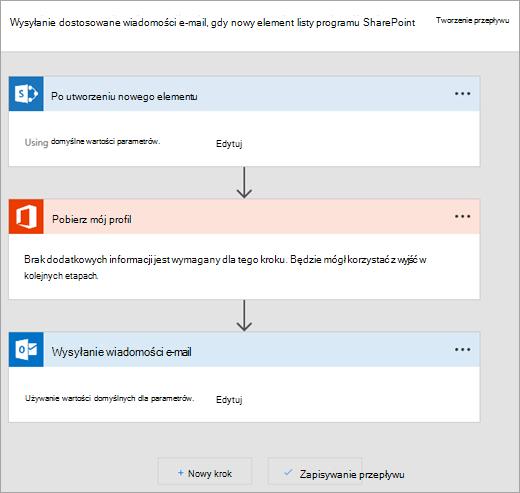Postępuj zgodnie z instrukcjami w witrynie Microsoft Flow, aby połączyć przepływu