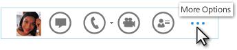 Zrzut ekranu menu Szybka komunikacja z przyciskiem Więcej opcji
