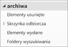 Rozwiń plik archiwum w okienku nawigacji, aby wyświetlić jego podfoldery.