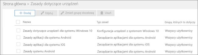 Zrzut ekranu przedstawiający stronę Zasady