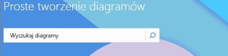Pole wyszukiwania diagramów na stronie wprowadzającej
