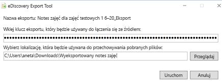 Eksportowanie klucza