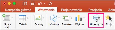 Karta Wstawianie w programie PowerPoint 2016 dla komputerów Mac