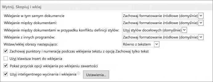 Program Word 2013 — opcje wycinania, kopiowania i wklejania