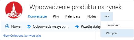 Pasek nawigacji grupy w programie Outlook