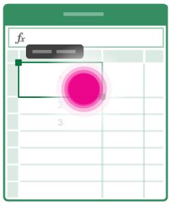 Otwieranie menu edycji komórki