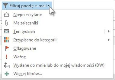 Filtrowanie wiadomości e-mail