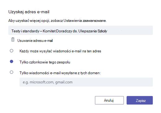 Pobierz wiadomości e-mail