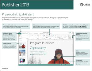 Przewodnik Szybki start dla programu Publisher 2013